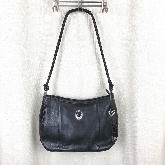 Brighton Dark Brown Leather Heart Purse Shoulder Bag C528226