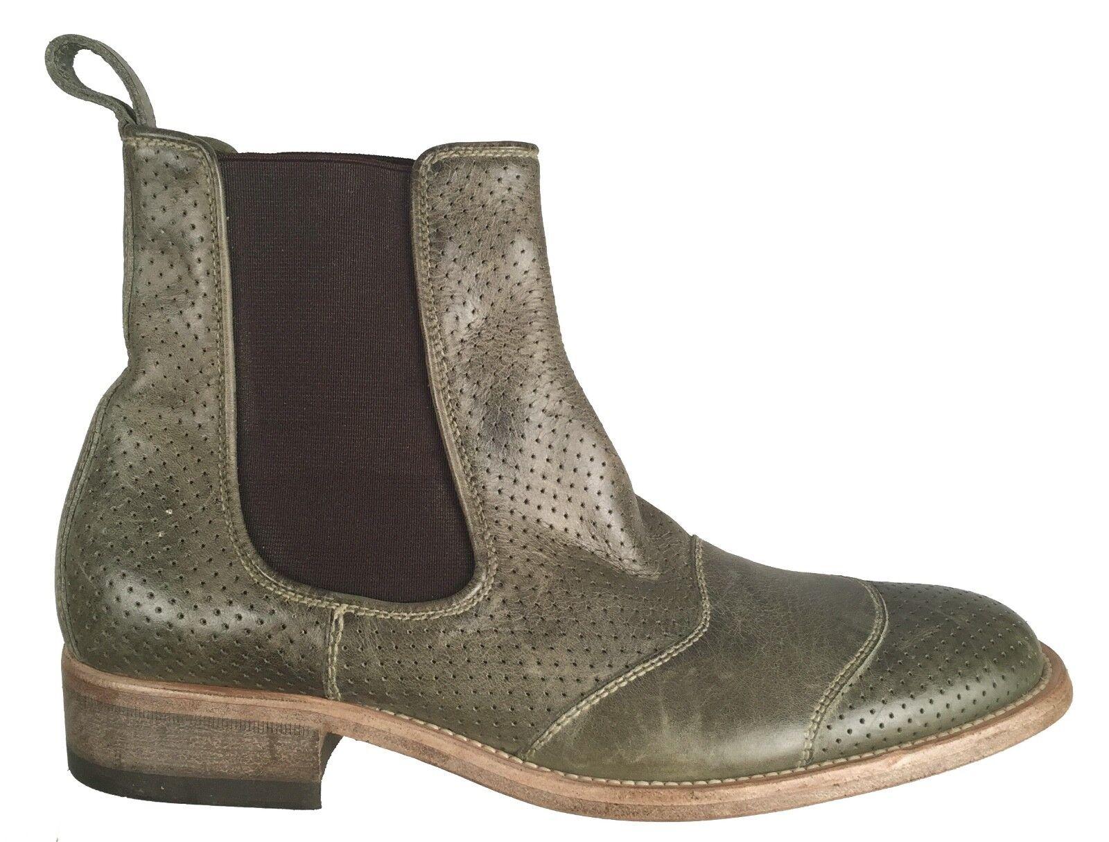 Belstaff para hombre Clásico Tourmaster Tobillo botas De Cuero Perforado Zapatos EU