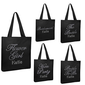 BRIDE FLORAL TOTE SHOPPER SHOPPING BAG PERSONALISED WEDDING HEN PARTY GIFT