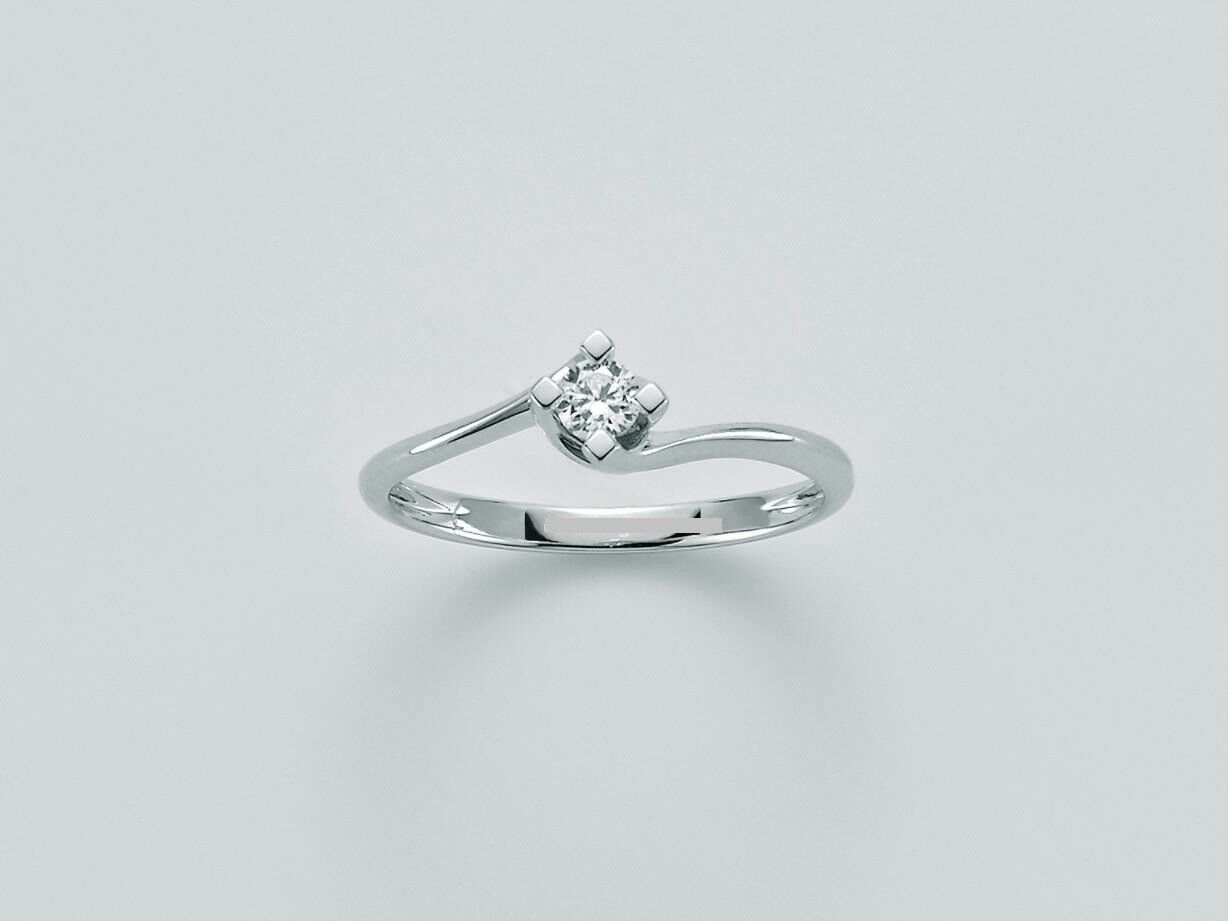 MILUNA WHITE gold SOLITAIRE RING AND DIAMONDS Cod. LID5180_015G7