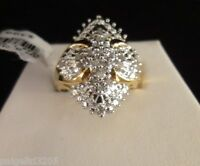 Gold Over Brass 1/2 Cttw Diamond Ring Size 7