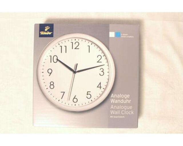 analoge Uhr Wand-Uhr Küchenuhr weiß Durchmesser ca. 25 cm TCM /Tchibo NEU