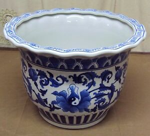 Motivated N°4638 Ne Ba Bellissimo Grande Cachepot Yin Yang Vaso Cinese In Porcellana Antiques
