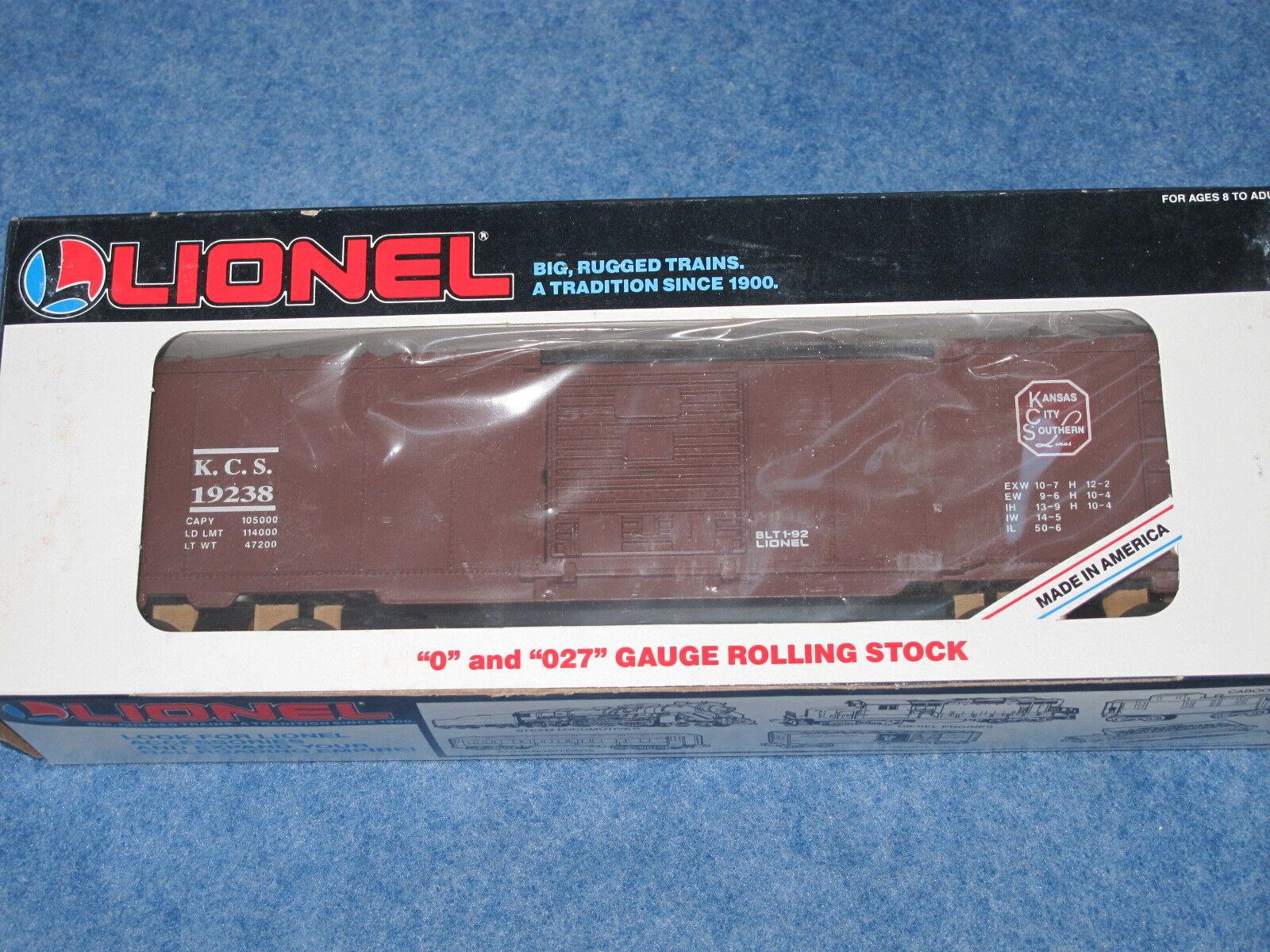 1992 Lionel 6-19238 Kansas City Southern KCS Box Car NIB L1231