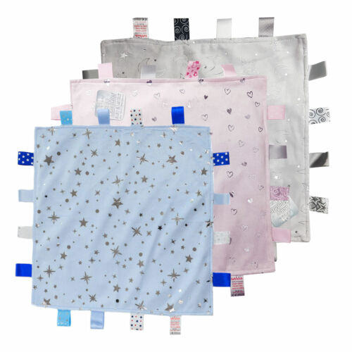 Baby Boys Girls Soft Touch Tag Comforter Blanket With Satin Back  BC20