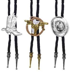 Cowboy-Schnuersenkel-Bolo-Krawatte-Kostuem-Modeschmuck-Damen-Herren-Rodeo-West