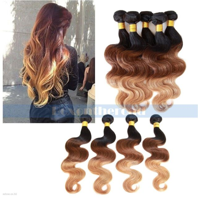 """Ombre 14""""-28"""" 50g Brazilian Remy Body Wave 100% Human Hair Extensions"""