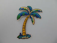 Palm Tree Green and Blue Iron on Applique patch