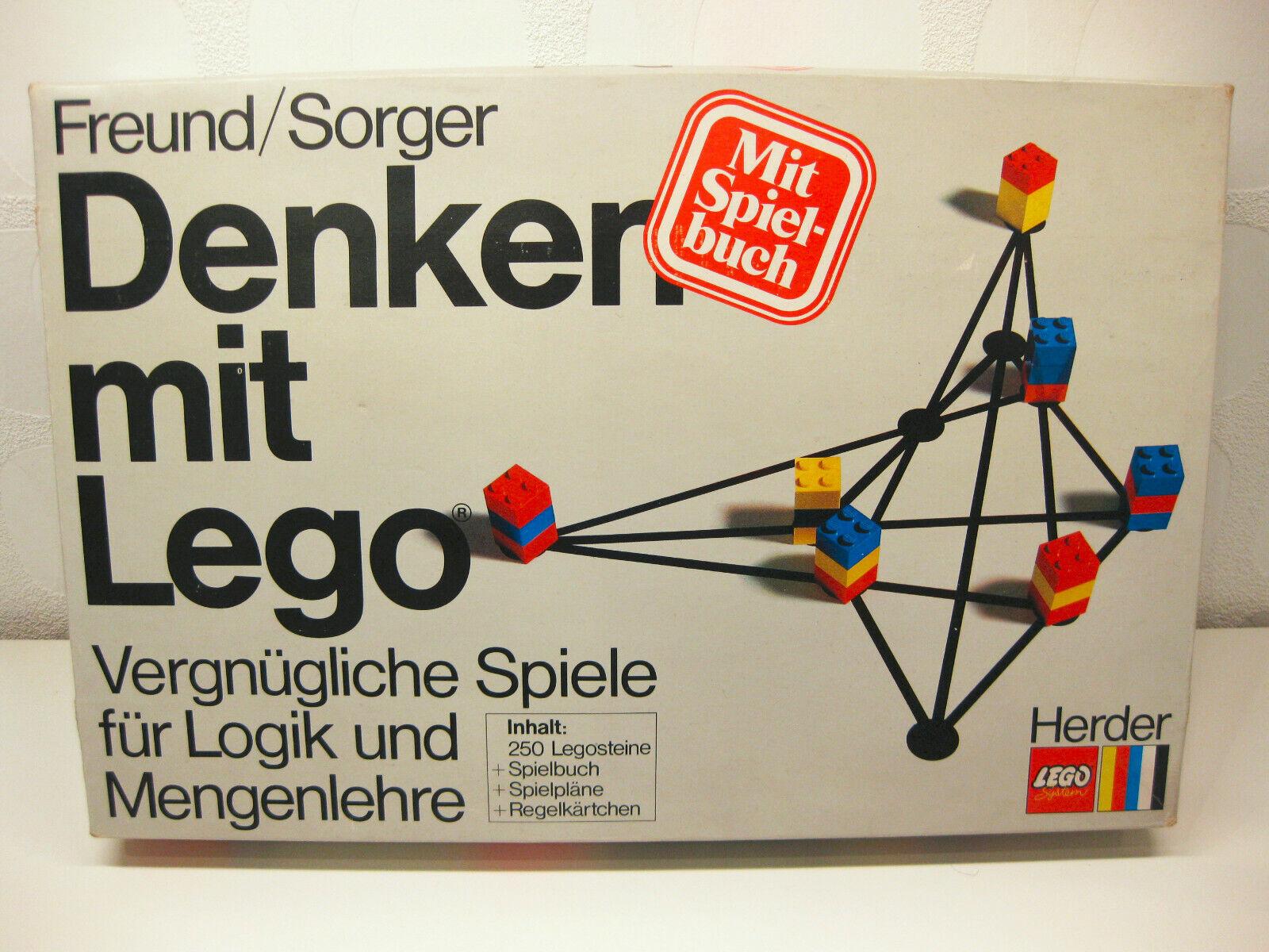 Lego 1512 - Denken mit Lego Spiel   70er Vintage komplett 1972 sehr selten Dacta
