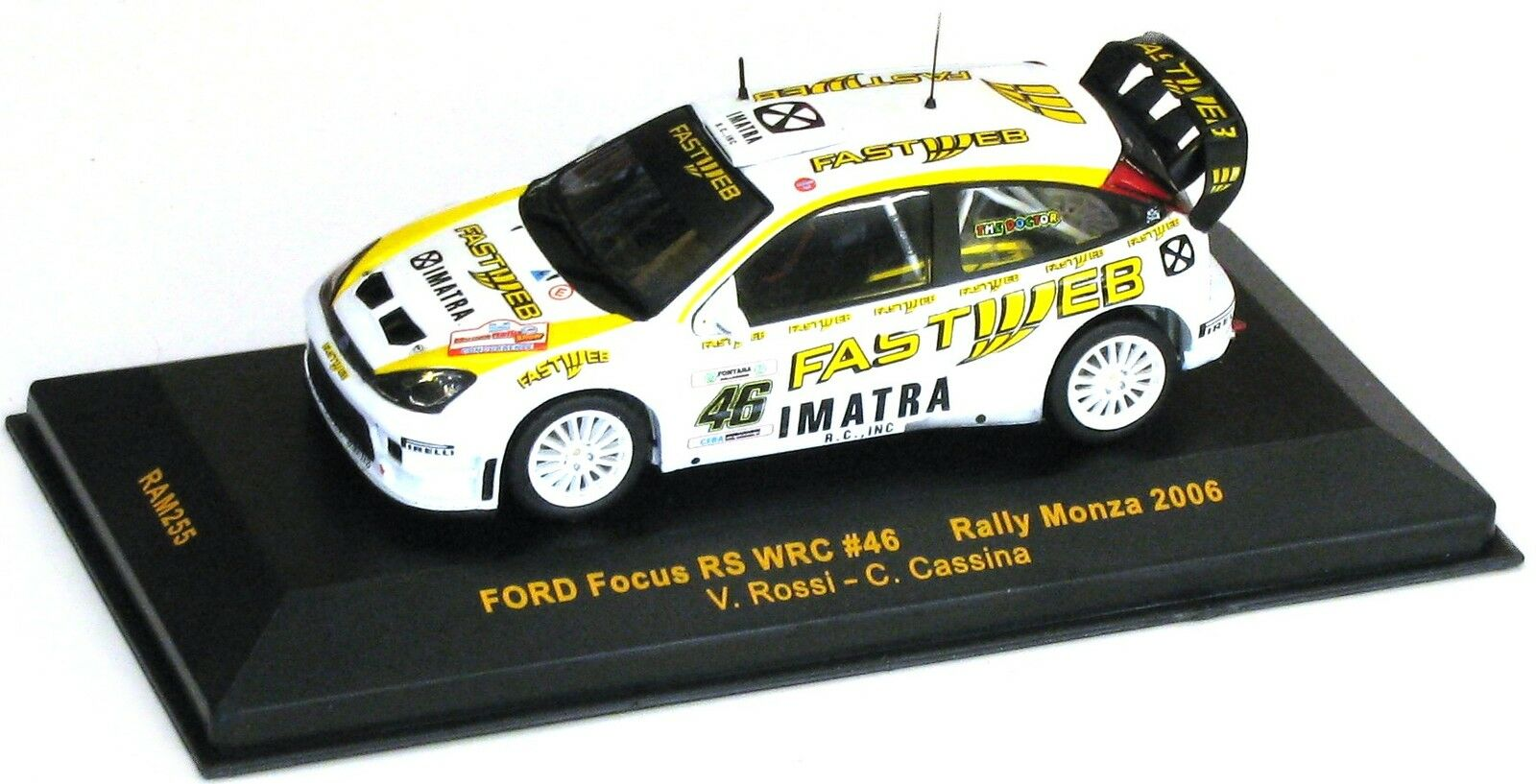 IXO 1 43 FORD FOCUS RS WRC 2006 RALLY MONZA ROSSI CASSINA  ART RAM255
