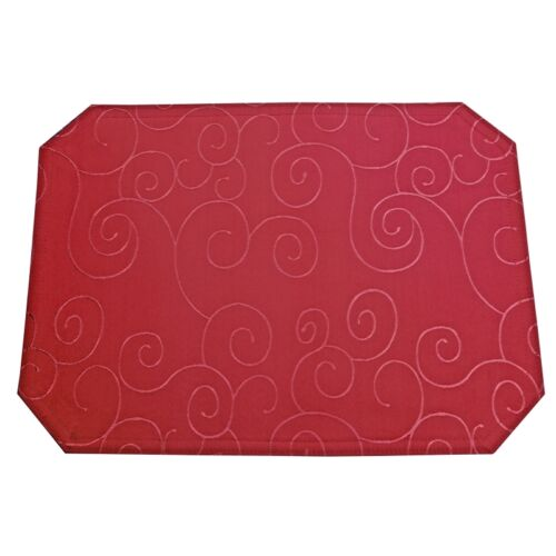 Farbe wählbar Tischsets Platzsets Platzdeckchen Eckig Ornamente Design 40x50cm