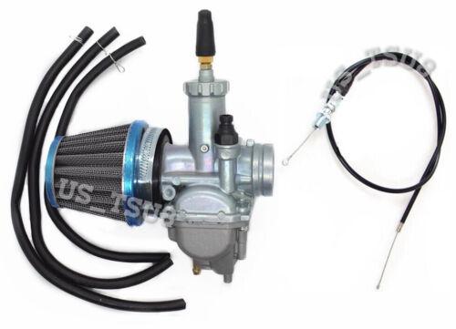 Kawasaki Bayou 220 250 KLF220A KLF250A Carburetor /& Throttle Cable Air Filter