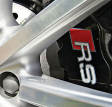 AUDI RS Premium Brake Caliper Decals Stickers Correct Sizes Set of 6