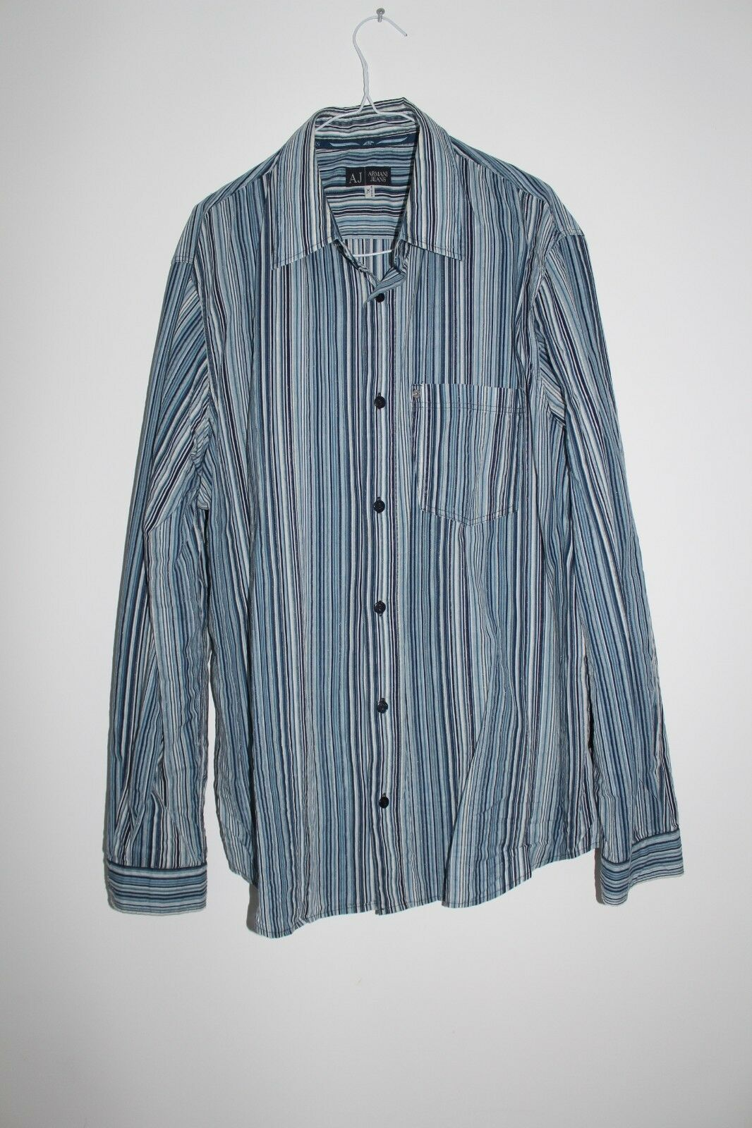59bdb691e7cd Superbe Homme chemise Homme Superbe ARMANI JEANS Taille XL 6aa6f3 ...