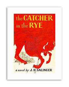Book Cover Catcher Rye Salinger Classic Red Horse City Novel Poster