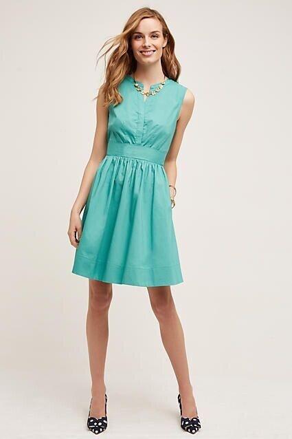 NEW Anthropologie Adrian Shirt Dress By Maeve Cotton Sleeveless Size Sz 4