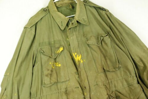Vintage M65 Distressed Thrashed Military Green Jac