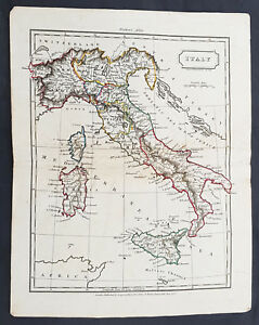 Antiques 1825 John Russell Antique Map Of Switzerland
