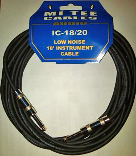 MI TEE Cables IC-18/20   18' Low Noise Instrument Cable