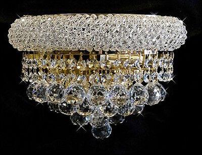 """Palace Bangle 12"""" Crystal Chandelier Lighting - Crystal wall  light"""