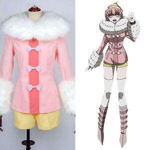 Danganronpa Ruruka Ando Cosplay Costume Pinkish Jacket Fur Scarf  Shorts Suit