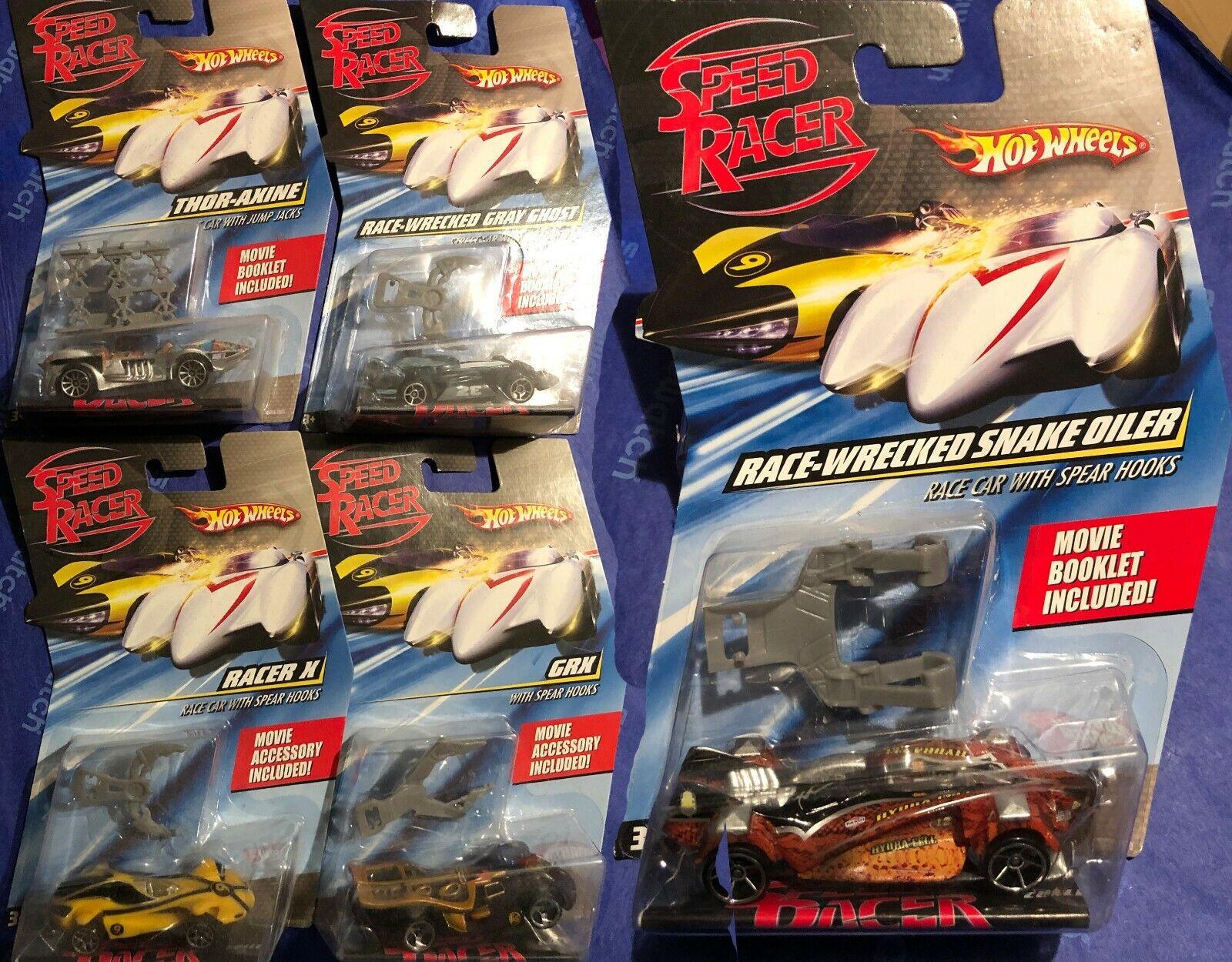 HOT Wheels - 5 SPEED RACER Film Cars 1:64 - Sigillato & Nuovo di Zecca