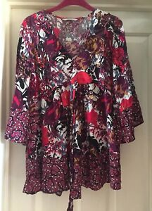 George-Top-With-Flared-Sleeves-Size-14-Lovely