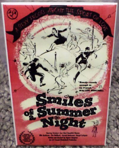 """Smiles of a Summer Night Movie Poster 2/"""" x 3/"""" Refrigerator Locker MAGNET"""