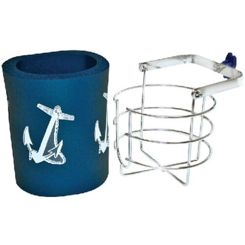 Chrome Plated Brass Swinging Drink Holder with Foam Thermal Insulator for Boats