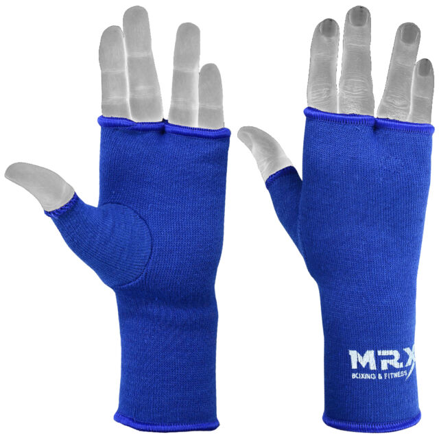 BLUE MUAY THAI INNER GLOVES BOXING FIST PROTECTIVE HAND