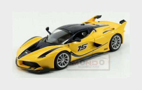 Ferrari Fxx-K #15 2015 Yellow Blue BURAGO 1:24 BU26301Y