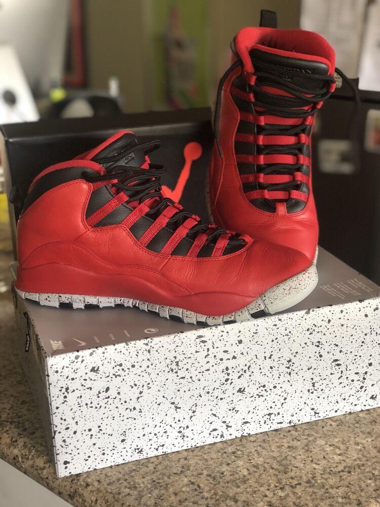 Nike Air Jordan Retro 10 30th rouge Bulls over Broadway All Star homme SZ 11 OBO