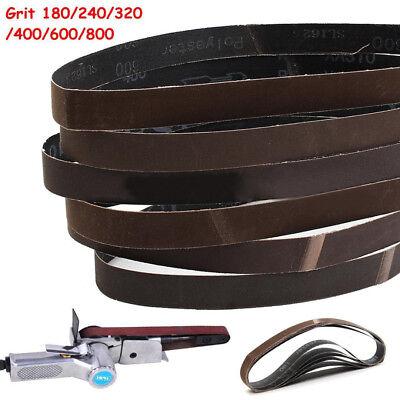 6pcs 25x762mm 180/240/320/400/600/800Grit Sanding Belts Set  Sander Power Tools
