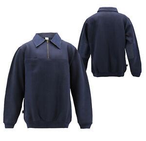 Men's Lightweight Collared Sweatshirt Half Zip-Up Cotton Blend Pullover Sweater