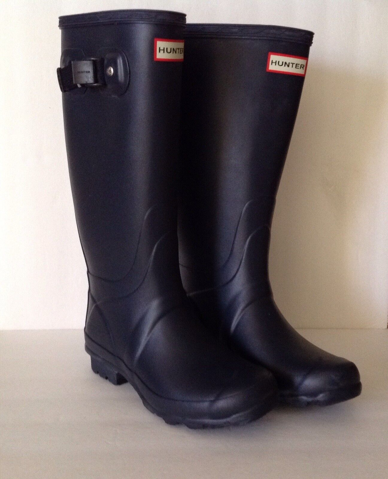Hunter 'Norris Field' Boot Rain Black Black Black Mate (Women) SZ 5M  160.00 5d2251