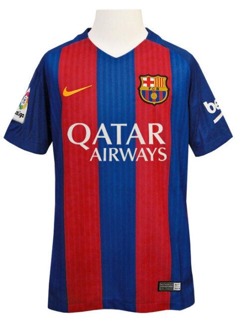 e0cccf2ae Nike Barcelona FC Kids Football Replica Home Shirt - Blue Red 100 ...
