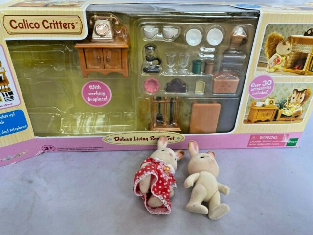 Calico Critters Deluxe Living Room Set Replacement parts still sealed...extras.
