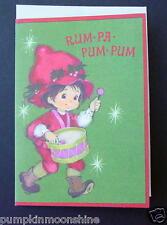 Vintage Unused Hallmark Christmas Greeting Card Drummer Boy Rum Pa Pum Pum