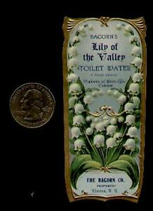 1890s-BACORNS-LILY-OF-THE-VALLEY-TOILET-WATER-LABEL