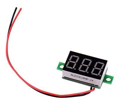 Voltmètre testeur 3 chiffres JAUNE DC 3-30V Digital yellow LCD voltmeter 3 digit