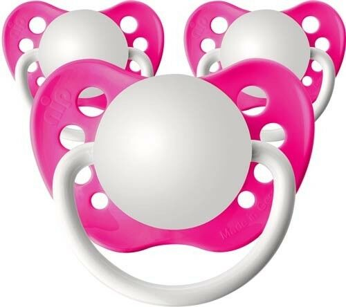 3 Personalized Pacifiers Orthodontic Pacifier Neon Pink Baby Shower Gift