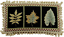 """12/"""" x 22/"""" Wool Needlepoint Maple Leaf Foliage Black Bolster Pillow with Tassels"""