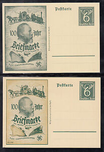 A 33 ) 2 Private postal stationery card, 100 years stamp, 70 years Postcard