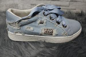 ITALY-Jeans-Da-Donna-Sneaker-Scarpe-Basse-Scarpe-Da-Ginnastica-Denim-Tg-40-per-il-Tempo-Libero