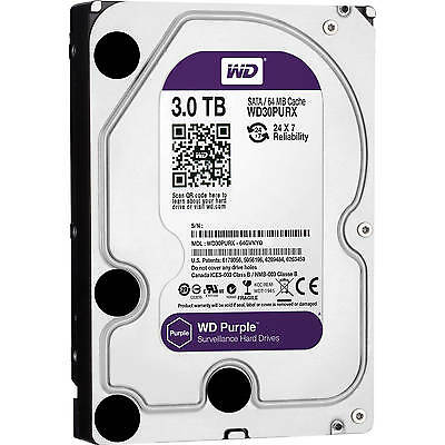 """Western Digital 3 TB PURPLE SATA 3.5""""WD30PURX"""