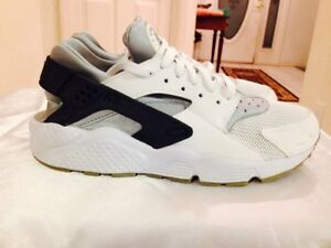 6e4d26d202ff Image is loading Nike-Air-Huarache-Athletic-Sneakers-White-Dark-Wolf-
