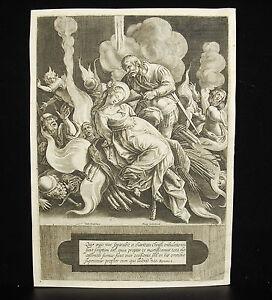 Torture-Of-Sainte-Agnes-Rome-Throat-Cut-Printed-S-Philip-Lys-Engraving-16th-1600