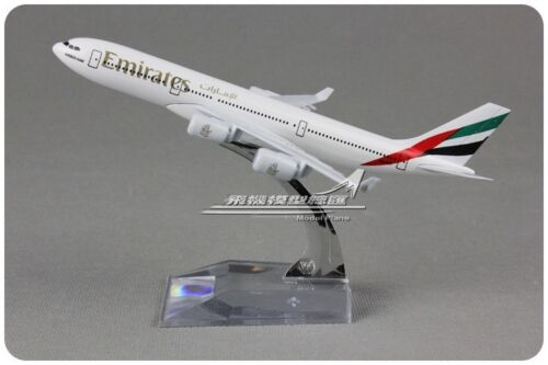 Emirates AIRBUS A340 Passenger Airplane Alloy Plane Aircraft Metal Diecast Model