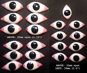 Gods' Eyes (Netra) for Hindu Idols - extra large (approx. 39mm x 20mm)