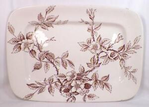 Sylvan-Brown-Transferware-Platter-TG-amp-FB-Booths-England-Antique-A-Beauty